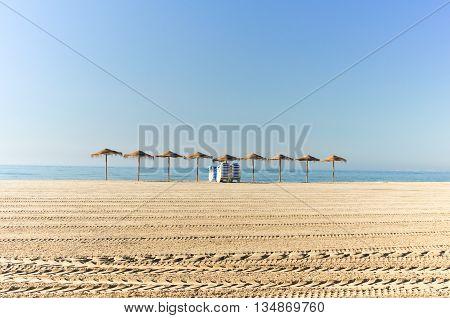 Mediterranean Beach In Santa Pola,  Costa Blanca, Alicante, Spain