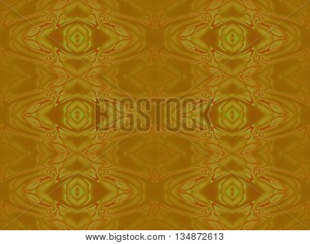 Abstract geometric seamless retro background. Regular ornate diamond pattern in ocher brown with red brown and bright green elements.