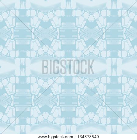 Abstract geometric seamless background. Delicate diamond pattern in white, light gray and  blue gray shades, quiet colors.