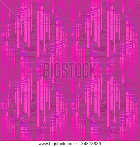 Abstract geometric seamless background. Modern stripes and rectangle pattern in violet, gray, magenta and purple shades, overlaying and blurred.