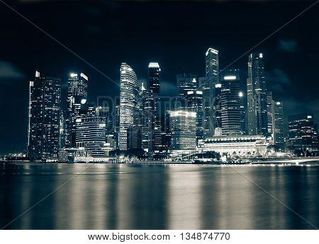 The cityscape architecture building business metropolis concept