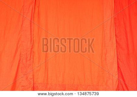 Orange Fabric Texture. on Orange background .
