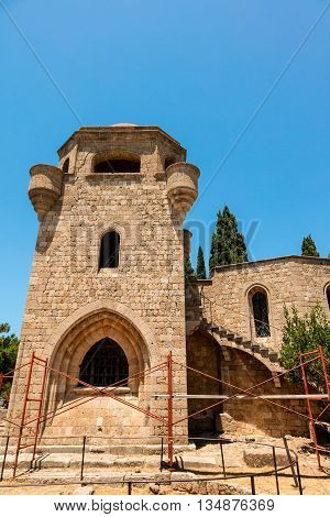 The Monastery of Filerimos was built in the 15th century by the Knights of Saint John on the island of Rhodes.