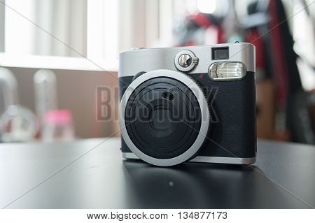 A Instant camera film in vintage style