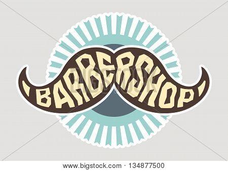 Hairdresser logo. Barbershop logo. Cartoon vector illustration