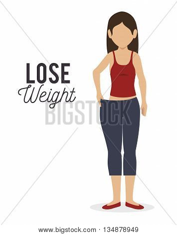 lose weight design, vector illustration eps10 graphic