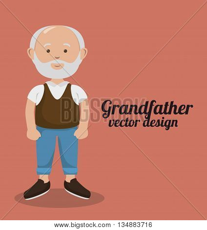grandparents character design, vector illustration eps10 graphic