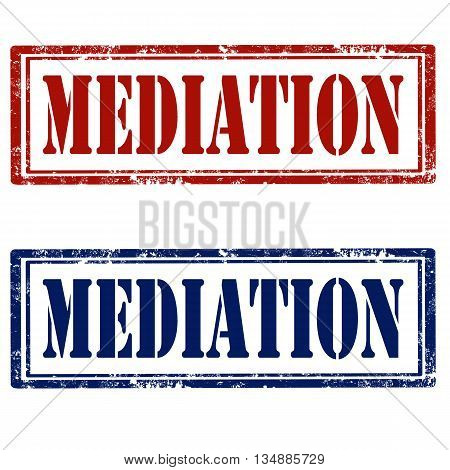 Set of stamps with text Mediation ,vector illustration
