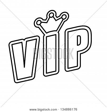 VIP concept represented by Luxury icon over flat and isolated background