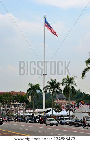 Kuala Lumpur/Malaysia - September 2012: Merdeka Square in Kuala Lumpur, Malaysia.