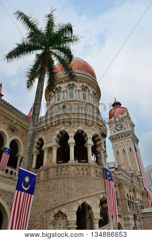 Sultan Abdul Samad palace in Kuala Lumpur Malaysia
