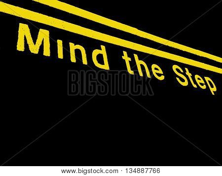 Abstract Railway Scene,Mind The Step Train Illustration