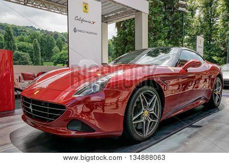 TURIN, ITALY - JUNE 13, 2015: Ferrari California at Turin open air car show