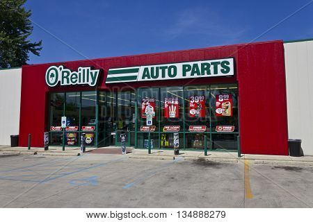 Logansport IN - Circa June 2016: O'Reilly Auto Parts Store. O'Reilly is a Retailer and Distributor of Automotive Parts II