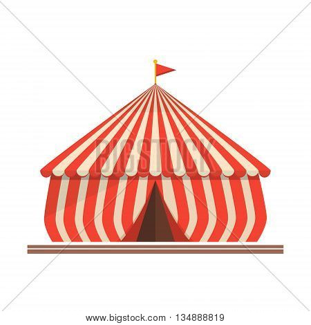 Vector illustration of circus tent carnival entertainment show.