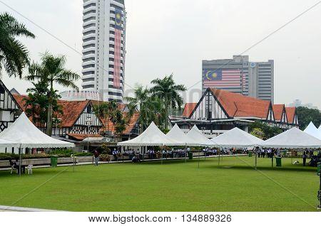 Kuala Lumpur/Malaysia - circa September 2012: Merdeka Square in Kuala Lumpur, Malaysia.