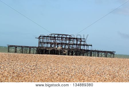Abstract Scene of the old Pier on Brighton Beach