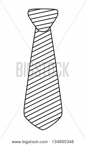 Part of suit concept represented by necktie icon over flat and isolated background