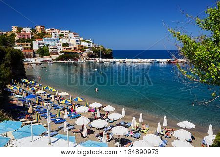 Seaview at Crete Island in the summer