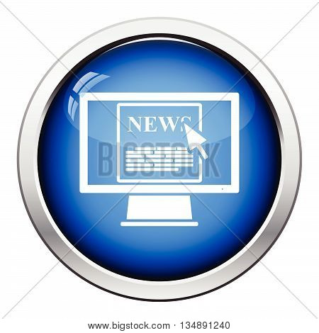 Monitor With News Icon