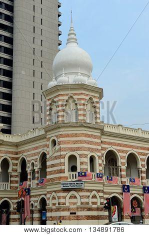 Kuala Lumpur/Malaysia - September 2012: Museum Tekstil Negara in Kuala Lumpur, Malaysia.