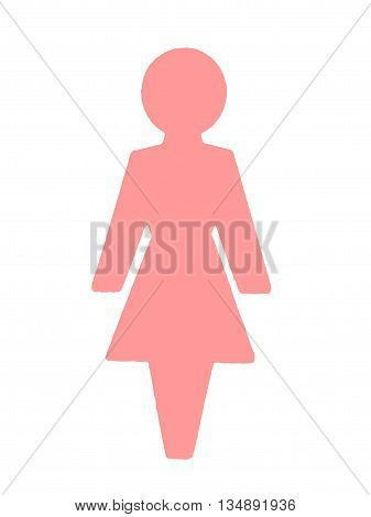 Abstract Creative Female Toilet Sign Illustration Scene