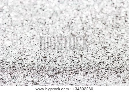 Shiny Silver Gray Foil Texture For Background And Bokeh Shadow. Crease