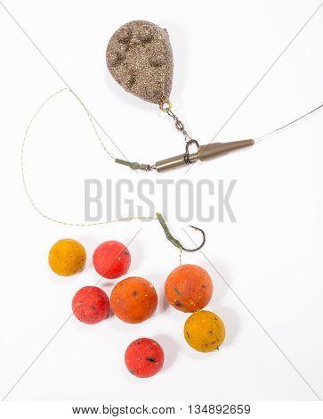 Carp Hook Boilies - Fishing Bait Close Up