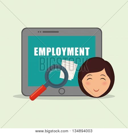 Employment concept with icon design, vector illustration 10 eps graphic.