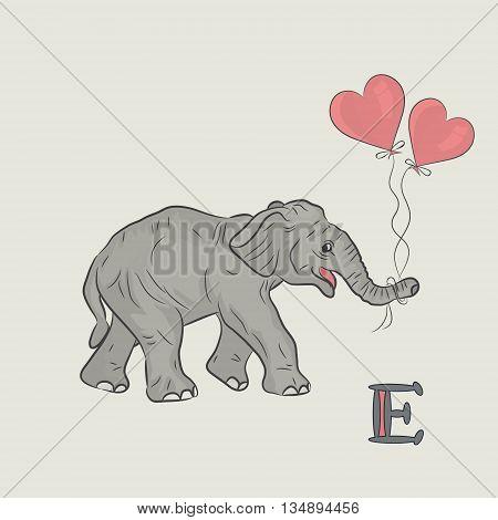 Elephant trunk heart silhouette