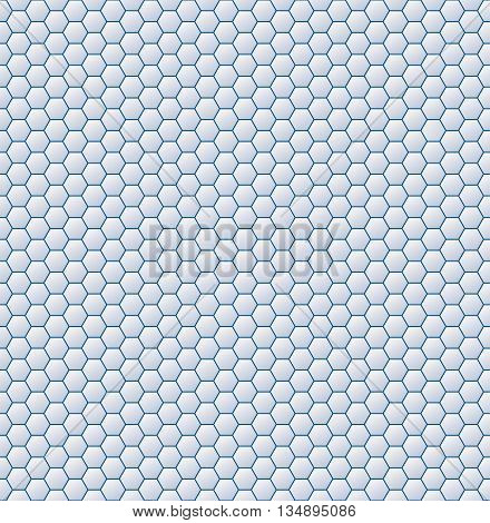 Vector geometric mosaic pattern . Honeycomb with gradient background.