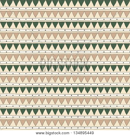 Seamless drawn pattern of triangles .Abstract vector background.