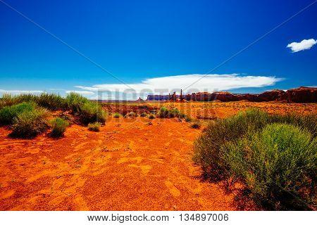 Totem Pole, Monument Valley, Arizona, Usa
