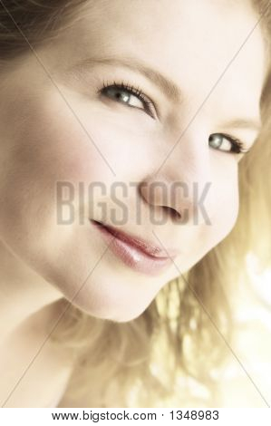 Portrait Of A Beautiful Blonde Woman.
