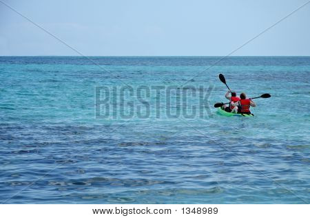 Kayaking At Sea