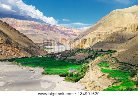 Village of Kagbeni, oasis at the door of the prohibited reign of Mustang
