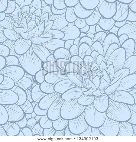 Beautiful background. blue flowers. Hand-drawn contour lines and strokes. Perfect for greeting cards and invitations to the wedding birthday mother's Day. Many similarities to the author's profile
