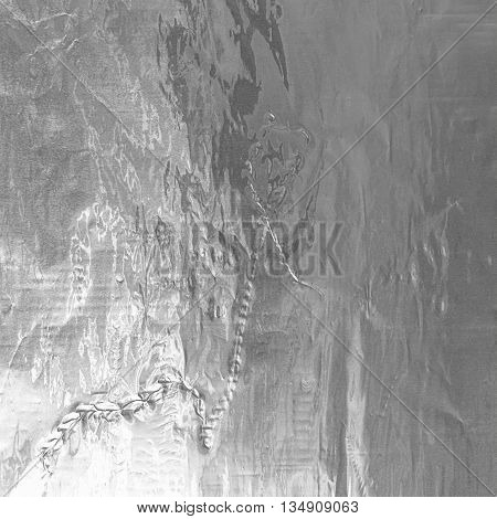 Shiny Silver Gray Foil Texture For Background And Shadow. Crease