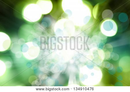 Green and blue circles abstract background
