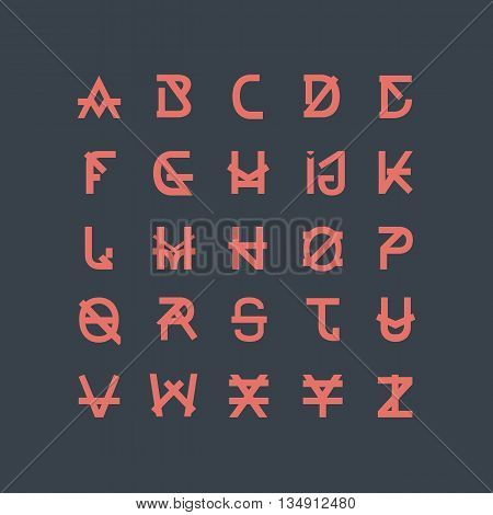 Vector Abstract Font. Abstract Alphabet Letters. ABC