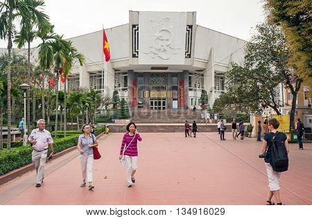HA NOI, VIET NAM, August 12th, 2016 Museum, Ho Chi Minh City, Ha Noi, Vietnam, Vietnam National monuments recognized. Address as tourist