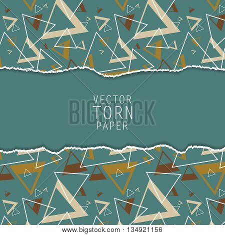 Vector torn paper background. Material desing elements. Elements for design, textured vector. Eps10
