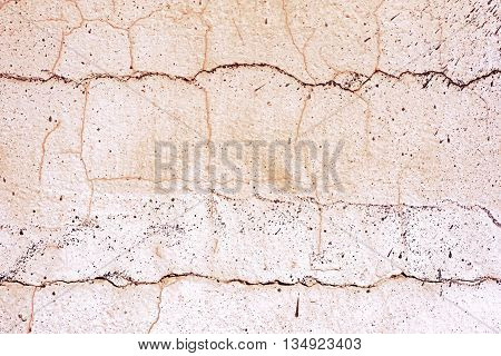Neutral Pink Beige Cracked Even Wall Background