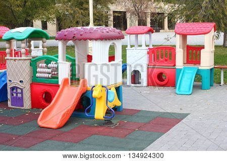 the entertainment equipment for a children's playground