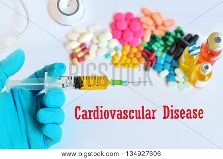 Syringe with drugs for cardiovascular disease treatment