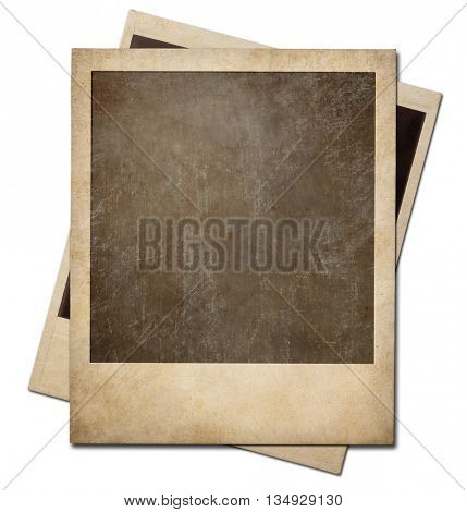 Vintage instant photo frames isolated. Clipping path is included.