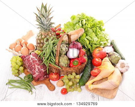 assorted organic food
