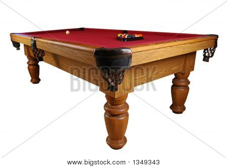 Red Felt Pool Table Pool Table