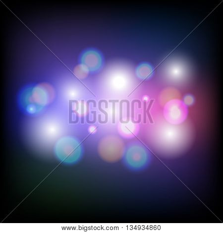 Abstract colorful bokeh light background, stock vector