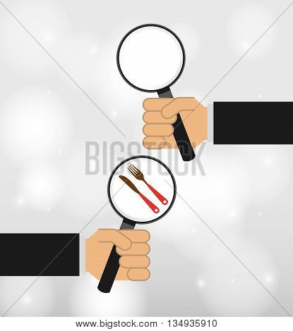 searching concept design, vector illustration eps10 graphic